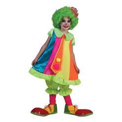 Carnaval kostuum kind - Lier - verkleedkostuums kinderen - circus - pipo - clownspak - felle kleuren - clownsneus - clownskleedje