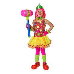 Carnaval kostuum kind - Lier - verkleedkostuums kinderen - circus - pipo - clownspak - felle kleuren - clownskleedje - jurk