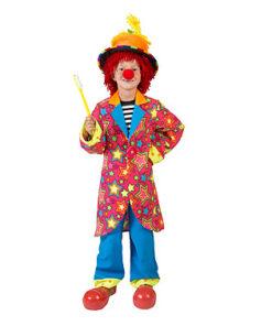 Carnaval kostuum kind - Lier - verkleedkostuums kinderen - circus - pipo - clownspak - felle kleuren - clownsneus - clownsbroek