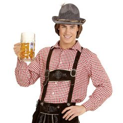 Tiroler hemd man - Après ski - Lier - Oktoberfest kleding - bavarian - oostenrijk - duitsland - bierfeest - trachtenmode