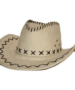 Lier - Carnaval - Western - cowboys - cowgirl - hoed - themafeest - western hoofddeksel - volwassenen - kinderen - ecru