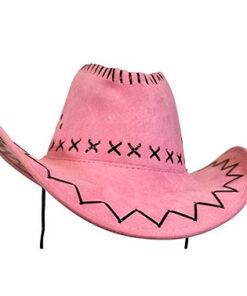 Lier - Carnaval - Western - cowboys - cowgirl - hoed - themafeest - western hoofddeksel - volwassenen - kinderen - pink