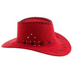 Lier - Carnaval - Western - cowboys - cowgirl - hoed - themafeest - western hoofddeksel - volwassenen - kinderen - rood