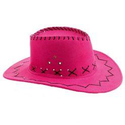 Lier - Carnaval - Western - cowboys - cowgirl - hoed - themafeest - western hoofddeksel - volwassenen - kinderen - fuchsia