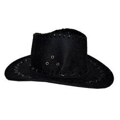 Lier - Carnaval - Western - cowboys - cowgirl - hoed - themafeest - western hoofddeksel - volwassenen - kinderen - zwart