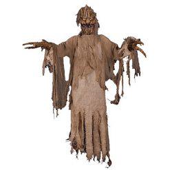 Halloween Decoratie - Lier - staande decoratie - bewegende decoratie - maïs - sprekende pop - halloween tocht - lichtgevende ogen