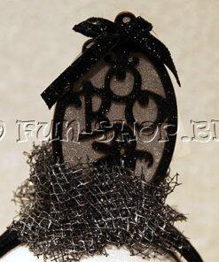 Halloween accessoires - Lier - haaraccessoire - grafsteen - spook - verlichting - lichtgevend - diadeem kind - grafzerk
