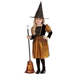 Halloween kostuum - Lier - verkleedkostuum - verkleedkledij kinderen - griezelen - heksen - bezems - hekserij - goud