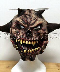 Lier - Carnaval - Halloween - griezelen - gezichtsmasker - schedel - horror - skelet - duivel - duivelhoorns