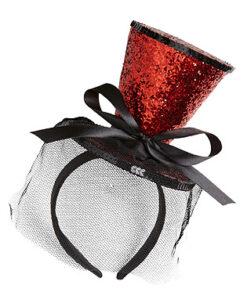Halloween - accessoire - Lier - haaraccessoire - sluier - bruid - horror - hoedje - buishoed - glitters - glamour - carnaval