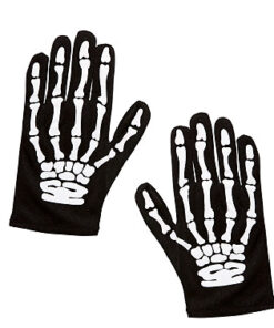 Lier - accessoire - halloween - handschoen - skelet - geraamte - horror - jongen - meisje - carnaval