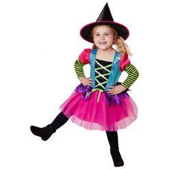 Halloween kostuum - Lier - verkleedkostuum - verkleedkledij kinderen - griezelen - heksen - bezems - fluo - hekserij