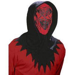 Halloween accessoires - Lier - masker - hoodie - griezel - mask - carnaval - doorkijken