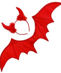 Halloween accessoires - Lier - vleugels - duivelshoorns - devil - voetbal - rode duivels - glitter - vleermuis