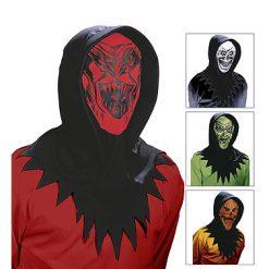 Halloween accessoires - Lier - masker - hoodie - pompoen - griezel - mask - carnaval - scream - doorkijken