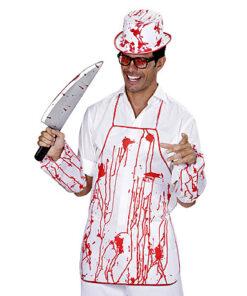 Halloween kostuum - Lier - verkleedkostuums - verkleedkledij volwassenen - griezelen - bloed - bloedspatten - schort - bloederig