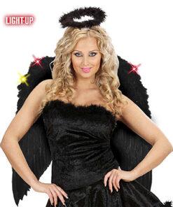 Lier - Carnaval - Halloween - angel - lichtgevende vleugels - duivel - vampier - led verlichting - zwarte vleugels