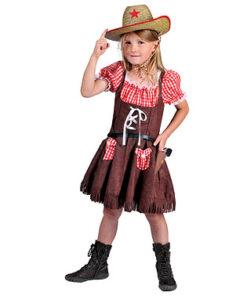 Lier - Verkleedkledij kinderen - verkleedkostuum - western - koeprint - kleedje - cowboyhoed - saloon - cowgirl