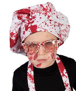 Halloween accessoires - Lier - brillen - bebloede glazen - bebloede bril - bloedspatten - horror - slager