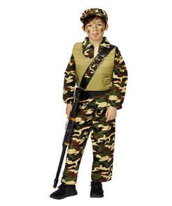 Carnaval kostuum kind - Lier - beroep - verkleedkledij kinderen - army - camouflage - kogelvrije vest - soldaat