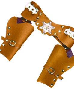 Lier - Carnaval - Western - cowboys - pistool - speelgoed geweer - gun - revolver - cowgirl - themafeest - houder pistool - riem