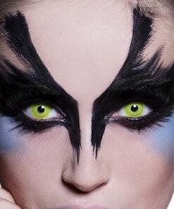 Lier - Carnaval - Halloween - contactlenzen - kleurlenzen - gekleurde lenzen - gele ogen - yellow eyes - kraai - zombie - horror
