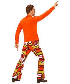 Lier - jaren 70 - 70's - olifantenpijpen - oranje hemd - disco - groovy - Fun-Shop - puntkragen - retro - studio 54