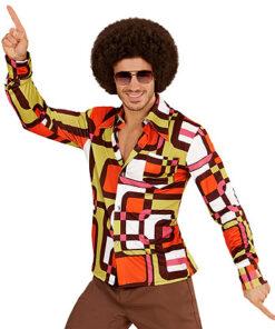 Lier - jaren 70 - 70's - olifantenpijpen - gekleurd hemd - disco - groovy - Fun-Shop - puntkragen - retro - studio 54