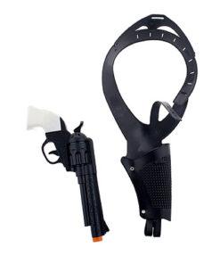 Lier - Carnaval - Western - cowboys - pistool - speelgoed geweer - revolver - cowgirl - themafeest - houder pistool - maffia