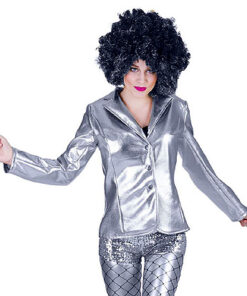 Lier - jaren 70 - 70's - jaren 60 - 60's - disco - puntkragen - glitter - glamour - studio 54 - Fun-Shop - silver - Nieuwjaar