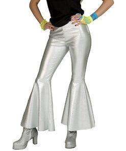 Lier - jaren 70 - 70's - jaren 60 - 60's - disco - olifantenpijpen - glitter - glamour - studio 54 - Fun-Shop - silver