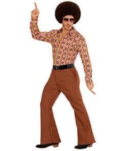 Lier - jaren 70 - 70's - olifantenpijpen - bruine broek - disco - groovy - Fun-Shop - puntkragen - glitter & glamour - studio 54