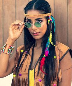 Lier - Fun-Shop - Carnaval - Jaren 60 - flower power - elton john - partybril - rond brilletje - hippie's - gekleurde bril