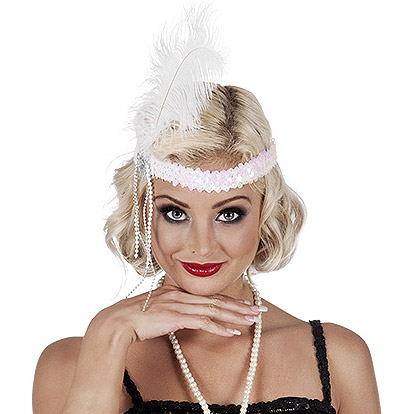 eff1883dffd932 Charleston Haarband Flapper Wit – Fun-shop