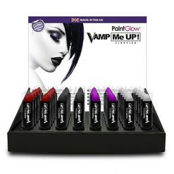 Lier - grime - Fun-Shop - make-up - lipstick - halloween - heksen - paars - vampieren - rood - zwart - wit - cosplay
