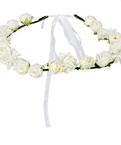 Lier - bloemenkrans - hoofdband bloem wit - summer - beach - oktoberfest - tirol - ibiza