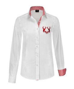Tiroler blouse dames - hemd - Après ski - Lier - Oktoberfest kleding - bavarian - oostenrijk - duitsland - bierfeest - trachtenmode