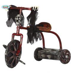 Halloween Decoratie - Lier - zelfrijdende fiets - moving bike - skelet - skull - muzikale fiets - bewegende decoratie