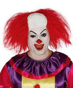 Halloween - Lier - scary - creepy - it - circus - clown pruik - horror - kaal voorhoofd - warige haren - enge clown