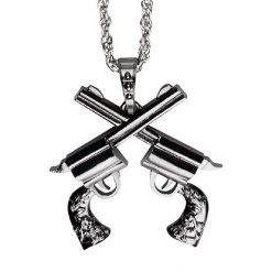 Lier - Carnaval - Western - Cowgirl - ketting - pistool - zilver - themafeest - geweren - pimp - gangster - maffia - politie