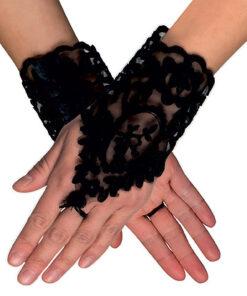 Lier - accessoire - halloween - handschoen - jaren 20 - charleston - dia de los muertos - day off the dead - burlesque -carnaval