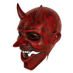 Lier - Carnaval - Halloween - gezichtsmasker - soepele latex - bewegend masker - devil - devil face - rode duivel