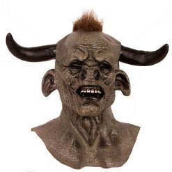Lier - Carnaval - Halloween - gezichtsmasker - stier - bizon - eng masker - creepy - soepele latex