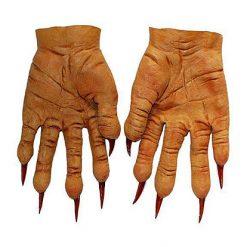 Halloween accessoires - Lier - handschoenen - griezel - horror - latex - heks - hekserij - nep handen - carnaval