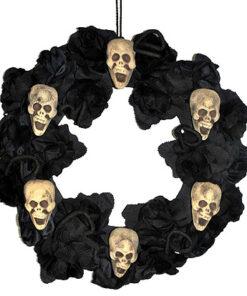 Halloween Decoratie - Lier - wanddecoratie - tafeldecoratie - skeletten - grafzerken - doodskrans - rouwkrans - skull - bloemen