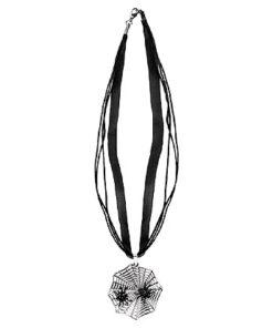 Halloween accessoires - Lier - sieraad - sieraden - carnaval - spinnen - spider - heksen - web - ketting - zilver