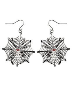 Halloween accessoires - Lier - sieraad - sieraden - carnaval - spinnen - spider - heksen - web - oorhangers - zilver