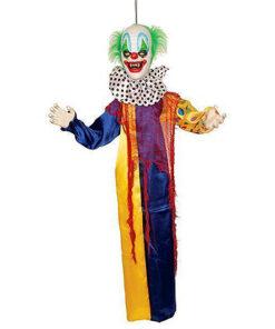 Halloween Decoratie - Lier - wanddecoratie - circus - enge clown - it - hangdecoratie - sprekende clown - bewegende clown