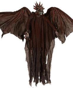 Halloween Decoratie - Lier - wanddecoratie - bewegende draak - vleugels - krijsende draak - vleermuis