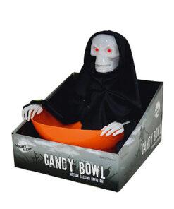 Halloween decoratie - Lier - tafeldecoratie - candy bowl - snoepjes - pratend skelet - grappige kom - hands off - trick or treat